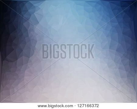 Abstract blue white ice background texture polygonal vector