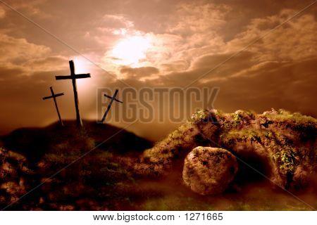 Kreuzigung und die Auferstehung