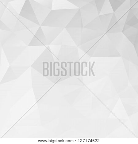 Abstract white geometric triangle background. Vector illustration for modern design. Light colors. Aqua water ice crystal. Bright poster. Decorative graphic mosaic texture. Retro wallpaper.