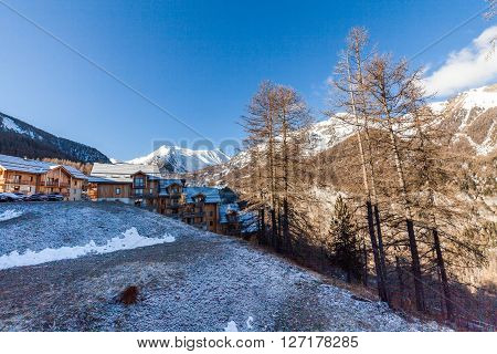Outdoor Views Of The Ski Resort Les Orres