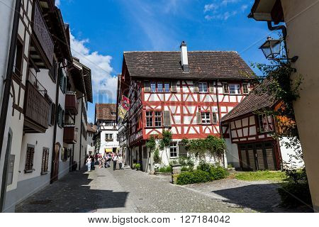 Various Houses In The Old Town Of Stein Am Rhein