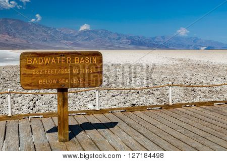 Badwater Basin Death Valley National Park, California