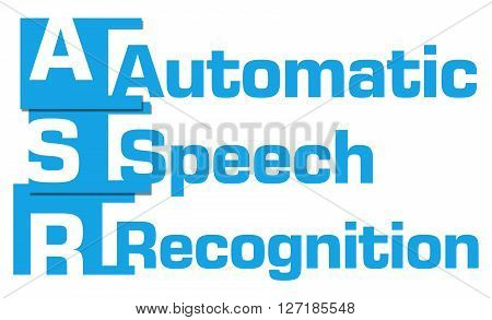 ASR - Automatic Speech Recognition text over blue background.