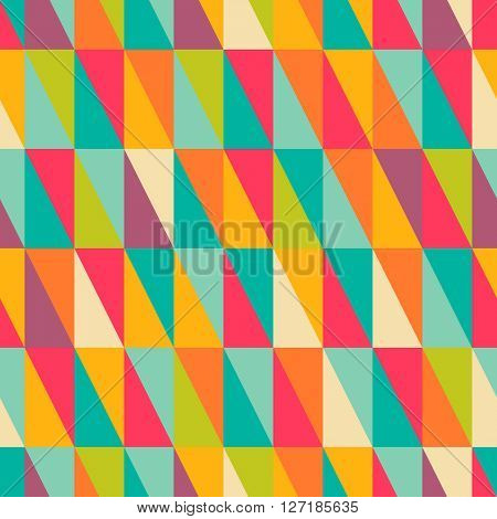 Abstract geometric colorful right triangle seamless pattern