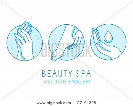 Vector Set Of Logo Design Templates And Infographics Design Elements For Cosmetics And Cream Product