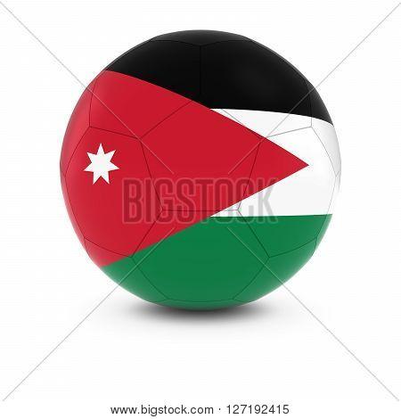 Jordan Football - Jordanian Flag on Soccer Ball 3D Illustration