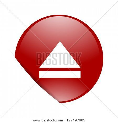 eject red circle glossy web icon