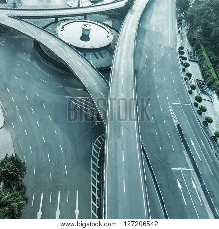 aerial view of chongqing caiyuanba overpass