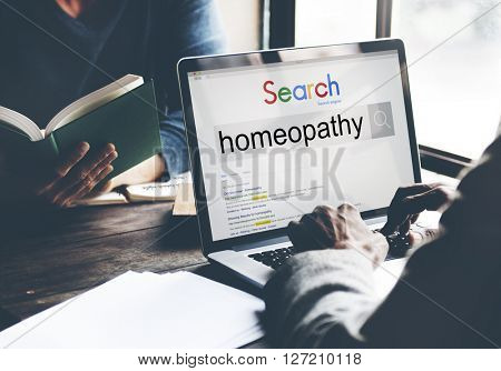 Homeopathy Medicine Minute Treatment Concept