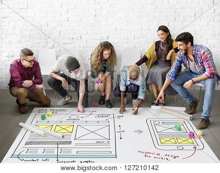 Web Design Online Technology Content Concept