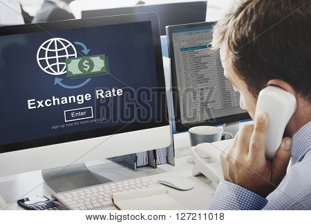 Exchange Rate Finance Trade Website Online Concept