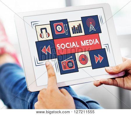 Social Media Communication Sharing Network Concept