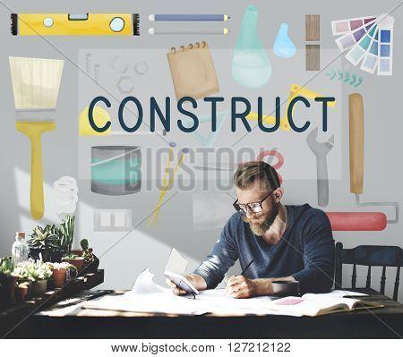 Construct Construction Equipment Architect Concept
