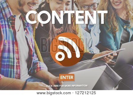 Blog Content Global Communications Connection Concept