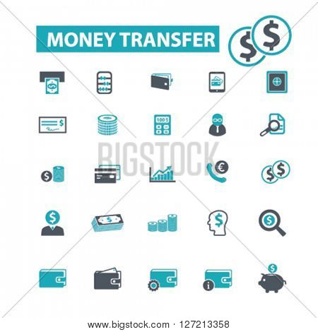 money transfer icons