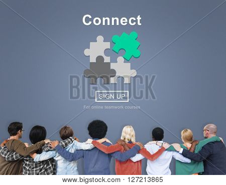 Connect Interaction Team Teamwork Concept