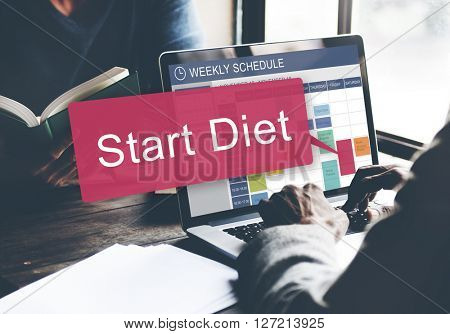Start Diet Healthy Planning Schedule Concept