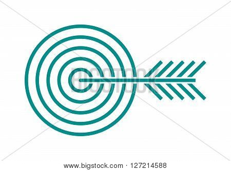 Target icon for business or sport element success aim accuracy center with arrow outline art vector. Line target and business concept target. Business concept dartboard strategy design marketing.