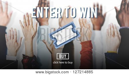 Enter Win Betting Pay Lottery Jackpot Lucky Concept
