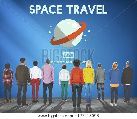 Space Travel Technology Concept