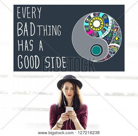 Experience Good Positive Quote Encouragement Concept