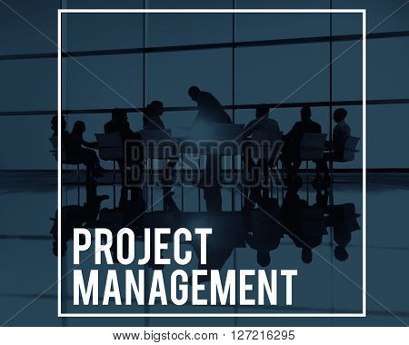 Project Management Manager Planning Processes Concept
