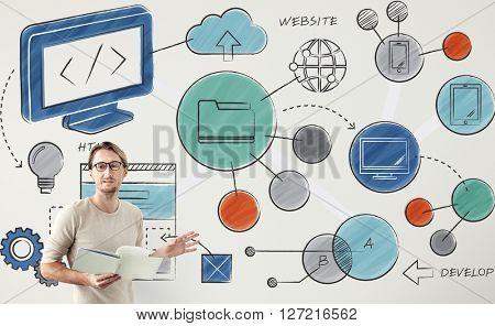 Website Technology Online Connection Concept