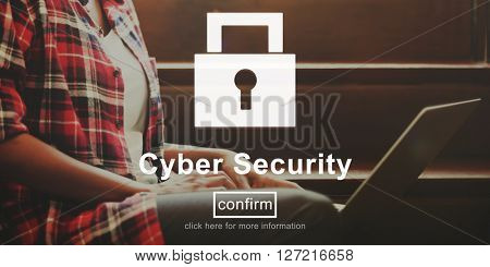 Cyber Security Protection Surveillance Safety Network Concept