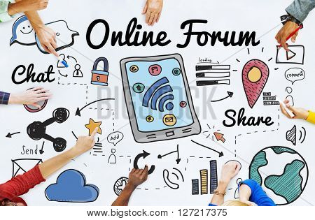 Online Forum Networking Connection Internet Concept