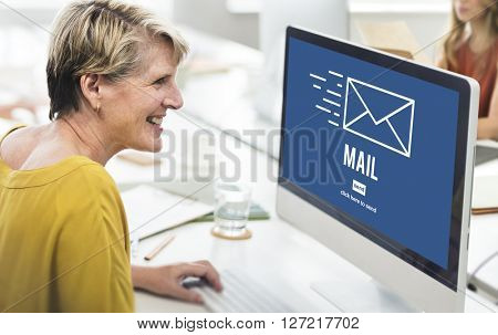 Mail Online Message Global Communications Connection Concept