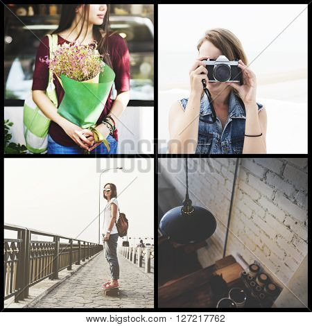 Woman Lifestyle Vacation Fashionable Concept