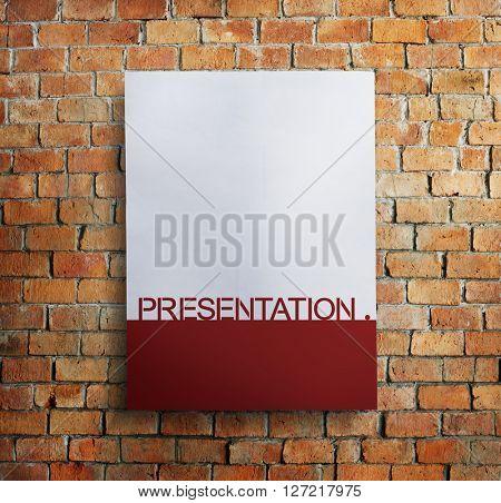 Paper Document Presentation Brickwall Concept