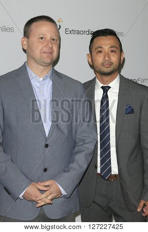 LAS VEGAS - APR 20:  Jason Peers, Eric Pelovello at the Extraordinary Families Gala at the Beverly Hilton Hotel on April 20, 2016 in Beverly Hills, CA