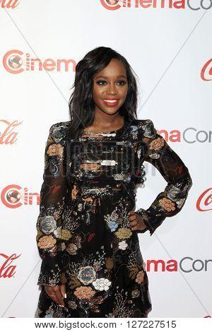 LAS VEGAS - APR 14:  Aja Naomi King at the CinemaCon Awards Gala at the Caesars Palace on April 14, 2016 in Las Vegas, CA