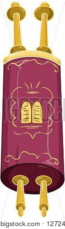 Vector illustration of the Jewish Torah closed.