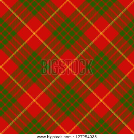 clan cameron tartan diagonal seamless background vector illustration