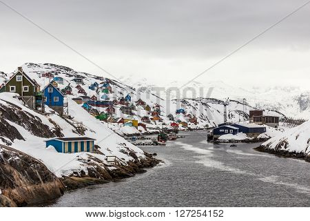 Kangamiut arctic village in the middle of nowhere Greenland May 2015