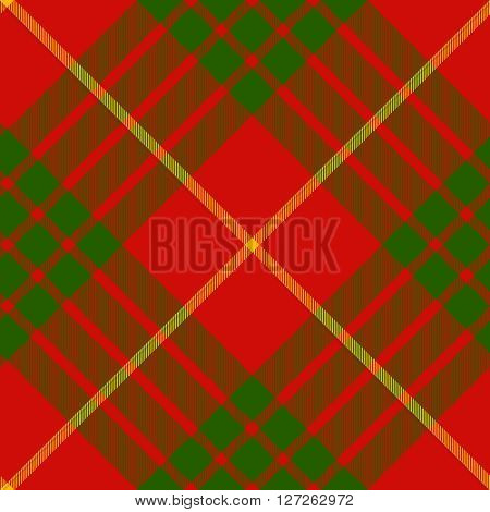 clan cameron tartan diagonal seamless pattern vector illustration