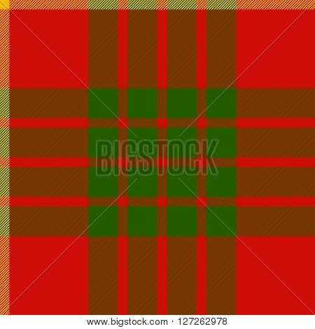 clan cameron tartan seamless background vector illustration