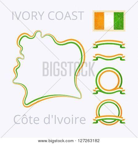 Colors Of Cote D'ivoire (ivory Coast)
