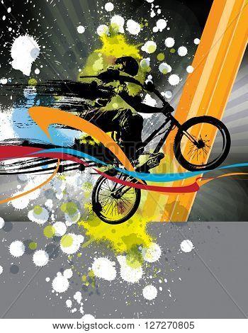 BMX, sport illustration
