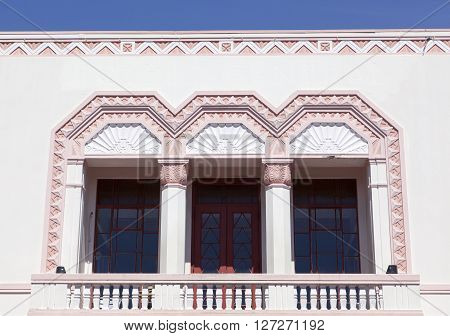 The historic building in Napier the town known as the capital of Art Deco (New Zealand).