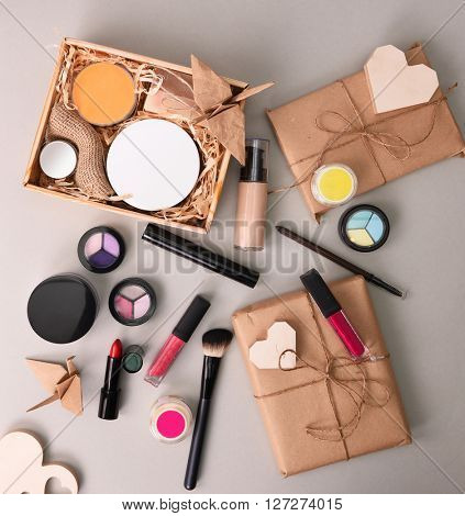 cosmetics set for make-up