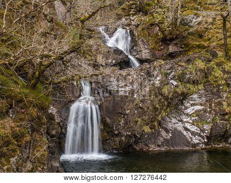 The Cia-Aig Waterfall near Achnacarry in Scotland