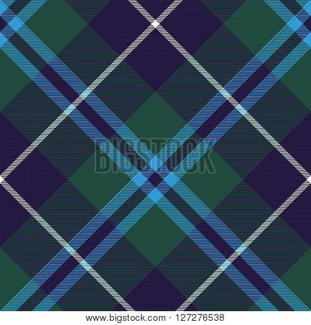 douglas tartan fabric texture seamless diagonal pattern. Vector illustration. EPS 10. No transparency. No gradients.