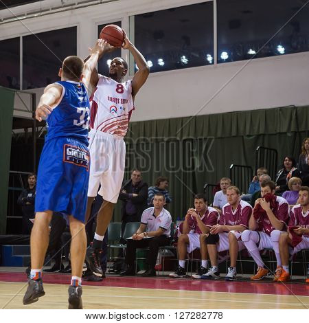 Bc Krasnye Krylia Forward Demetris Nichols (8) Goes Up For A Shot