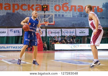 Bc Neptunas Guard Martynas Mazeika (7) With Ball