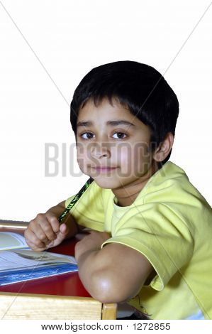 Kid Doing Homework