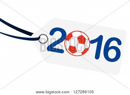 Hangtag With Lettering 2016 With France National Colors