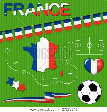 France Europe Soccer Icons Collection